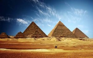 These are the pyramid's of giza